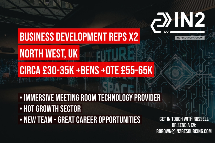 Inside Sales / Business Development Representatives x2 - North West, UK