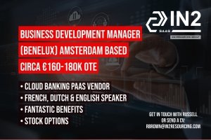 Business Development Manager (Benelux) - Based in Amsterdam - SaaS/Cloud Banking Platform