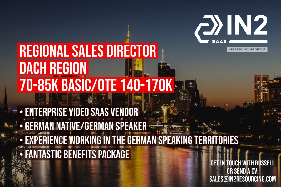 Regional Sales Director - DACH Region